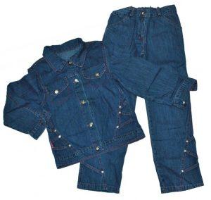 Джинсовий костюм 1211-1190 синій