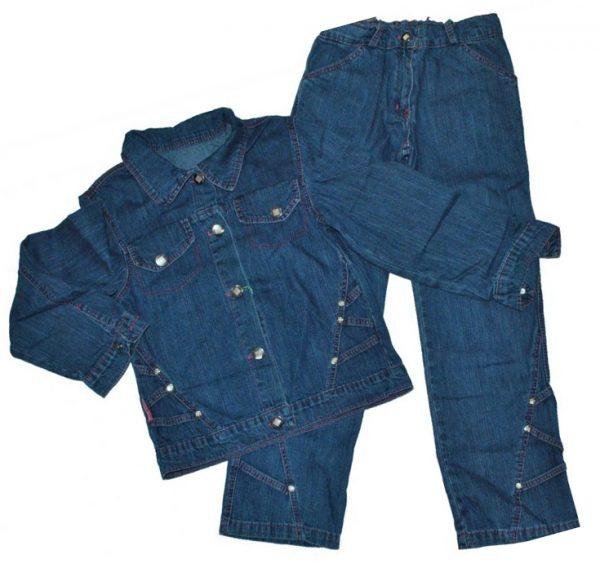 Джинсовый костюм 1211-1190 синий