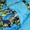 Куртка 20008 бірюзова з принтом 3231