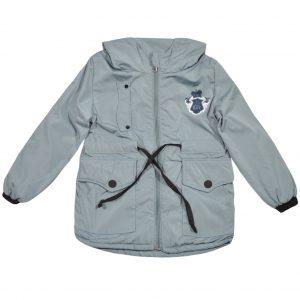 Куртка-парка 24045 серая
