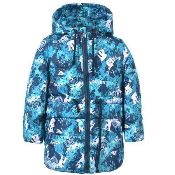 Куртка-парка 22417 синяя абстракция