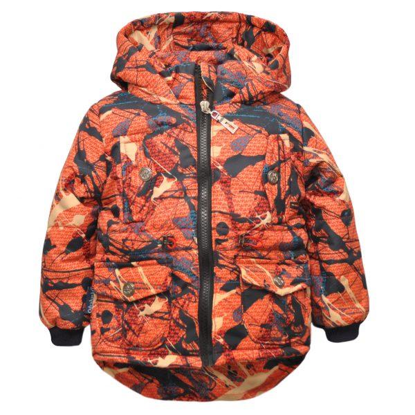 Куртка-парка 22280 цветной принт