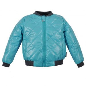 Куртка-бомбер 22406 голубая
