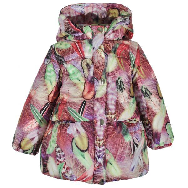 Куртка 22166 кольоровий принт