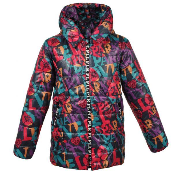 Куртка 22120 цветной принт