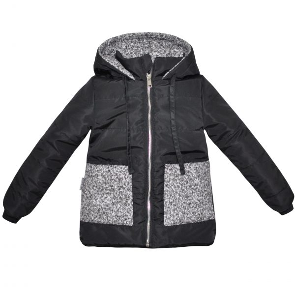 Куртка 22429 чорна