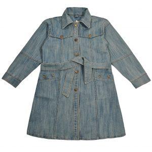 Джинсовий плащ на дівчинку Одягайко 1203-1 блакитний
