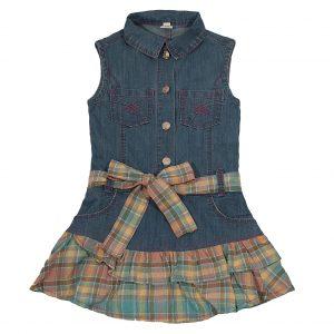 Сарафан джинсовий Одягайко 1430 блакитний