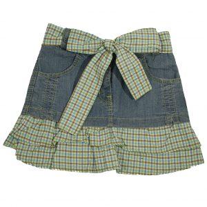 Юбка джинсовая Одягайко 1520 зеленый