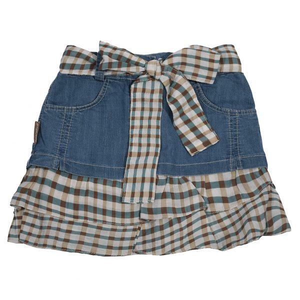 Юбка джинсовая Одягайко 1520 голубой