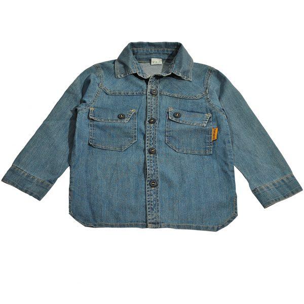 Джинсова сорочка на хлопчика Одягайко 1702