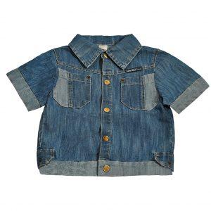 Джинсовая рубашка на мальчика Одягайко 1706
