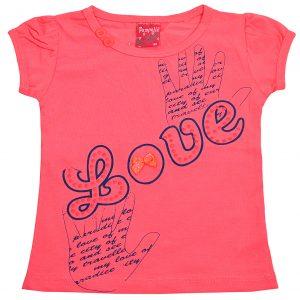 Футболка на дівчинку 57208 рожева