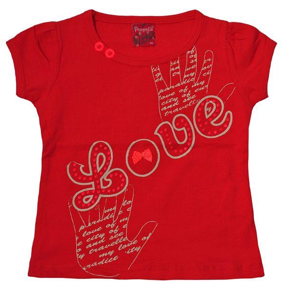 Футболка на девочку 57208 красная