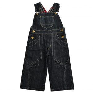 Джинсовий напівкомбінезон Одягайко 1301 темно-синій