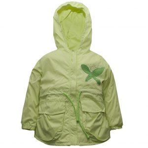 Ветровка на девочку Одягайко 24025 зеленая
