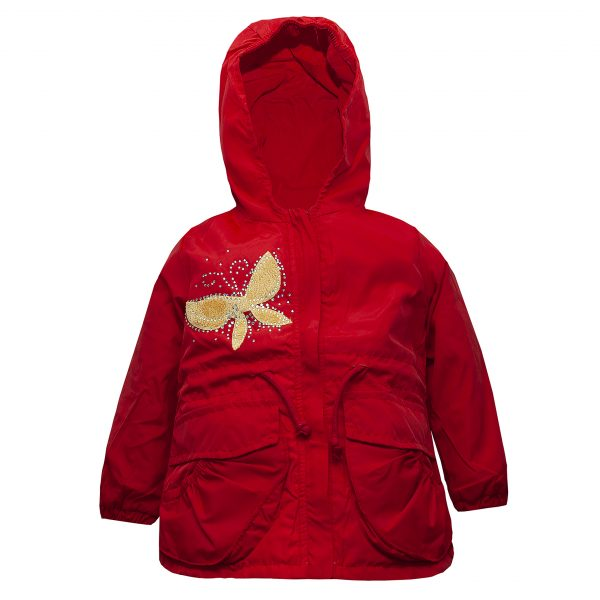 Ветровка на девочку Одягайко 24025 красная