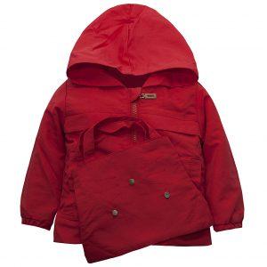 Вітровка на дівчинку Одягайко 24066 червона