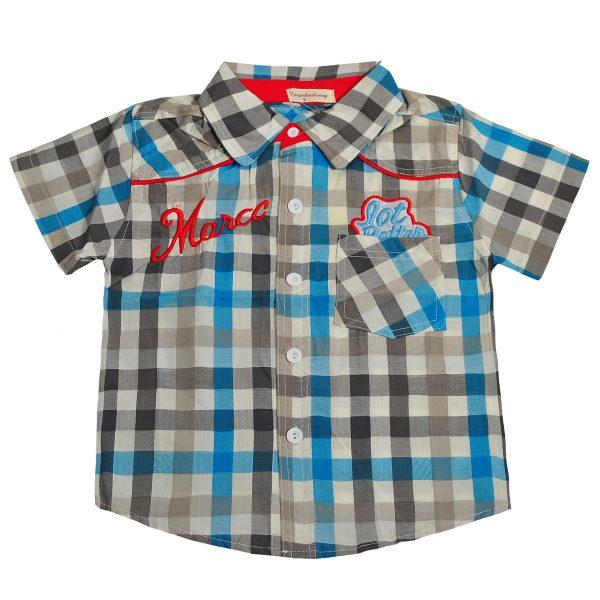Сорочка на хлопчика 9769 блакитна