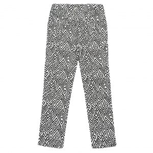 Штани Одягайко для дівчинки 00178 чорно-білі