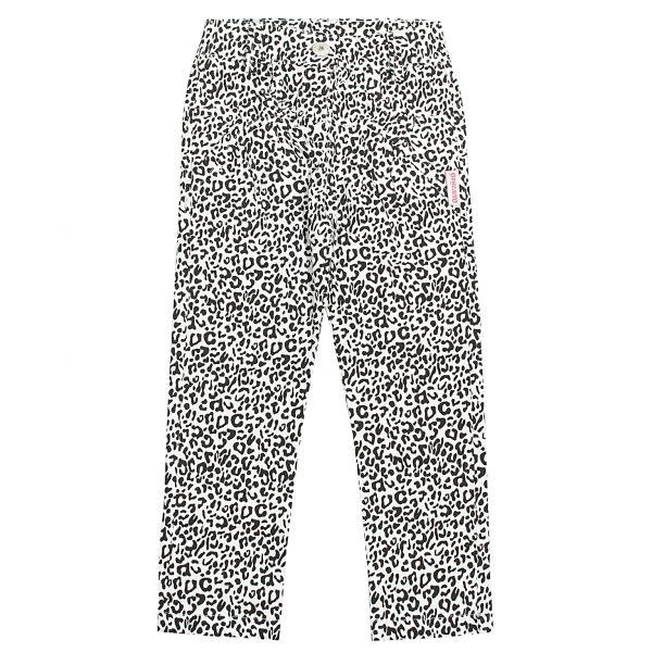 Штани Одягайко для дівчинки 00178 білий леопард