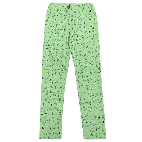 Брюки Одягайко для девочки 01228 светло-зеленые