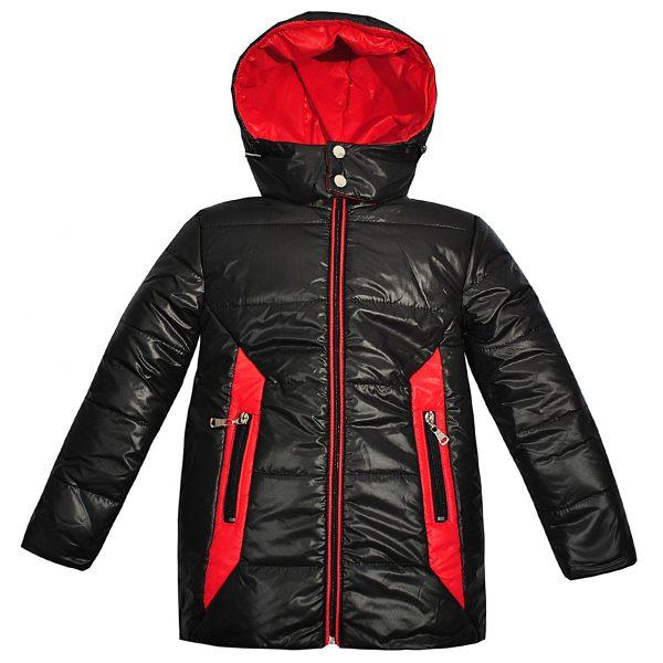 Куртка Одягайко 22018 темно-коричнева