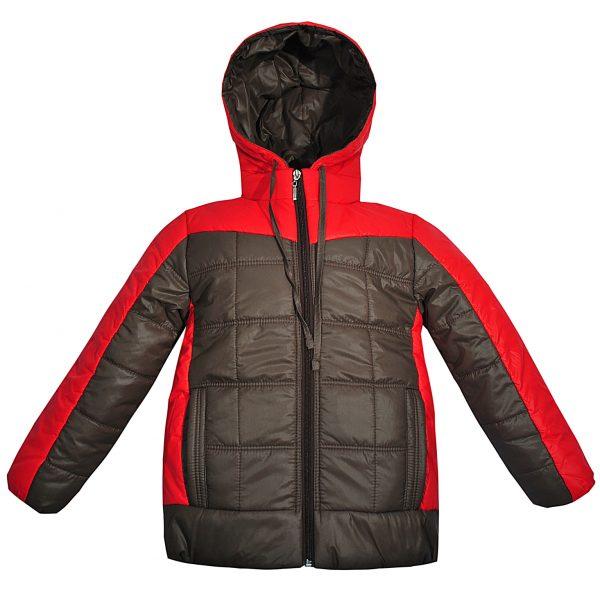 Куртка 2608 червоно-коричнева
