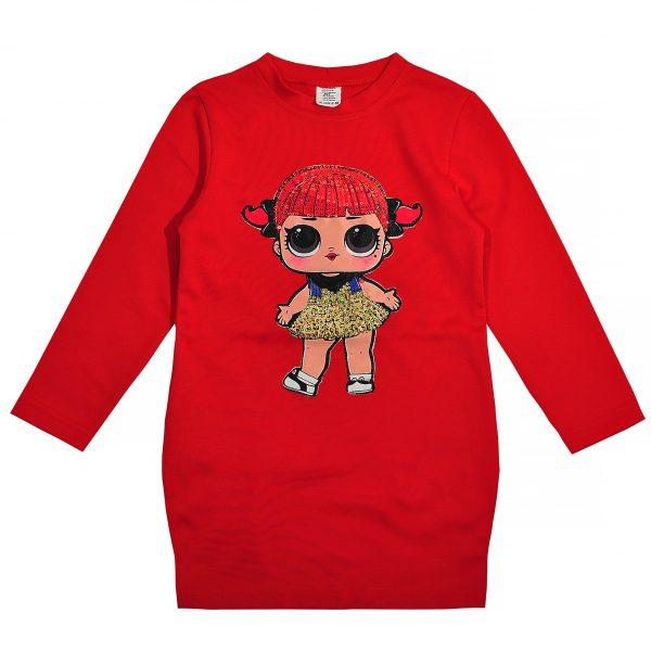 Платье 555112 красное