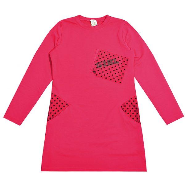 Платье 55512 розовое