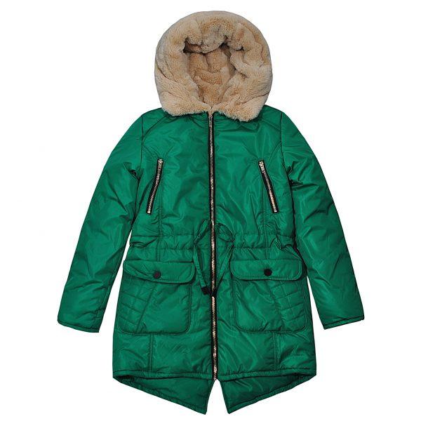 Куртка Одягайко 20061 зеленая