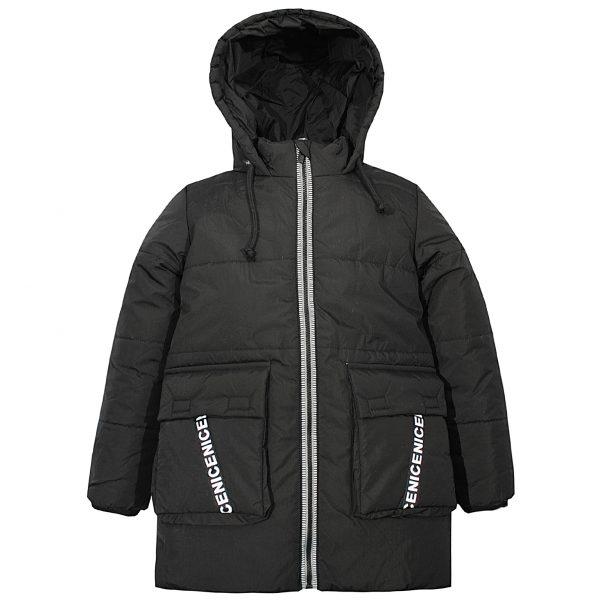 Куртка Одягайко 22217 чорна