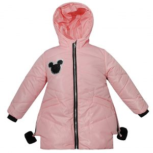 Куртка Одягайко 22284 світло-рожева