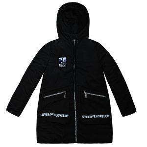 Куртка Одягайко 25030 чорна
