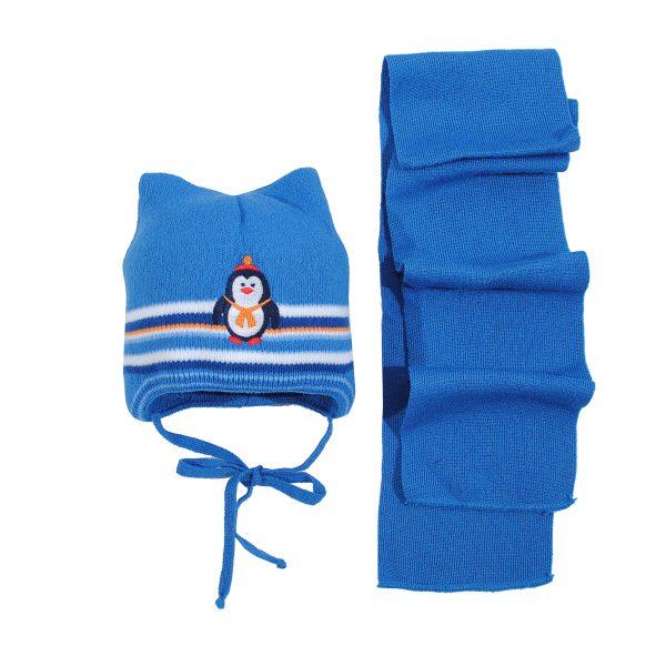Шапка Шарф зимняя 80326А синяя