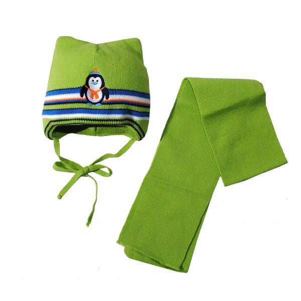 Шапка шарф зимняя 80326А салатовая