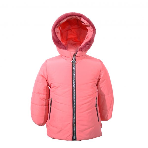 Куртка зимняя для девочки с рюкзаком  20324 розовая