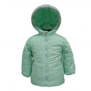 Куртка зимняя для девочки с рюкзаком  20324 светло зеленая