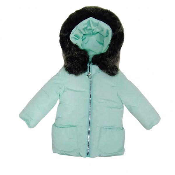Куртка зимняя для девочки  20339 светло-зеленая