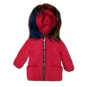 Куртка зимняя для девочки  20339 красная