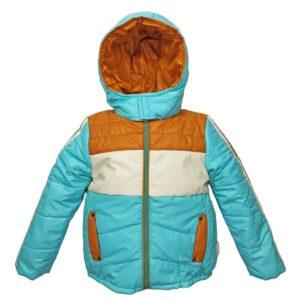 Куртка 2683 голубя с коричнево-белым принтом
