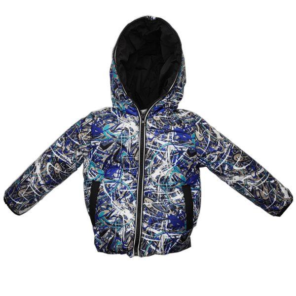 Куртка 22303 кольоровий принт