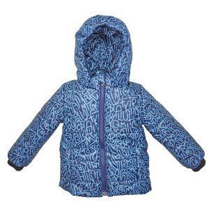 Куртка 22411 синяя с принтом