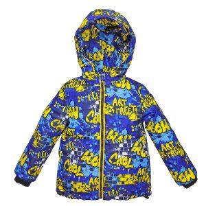Куртка 22590 цветной принт