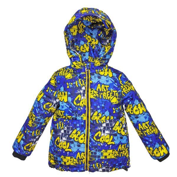 Куртка 22590 кольоровий принт