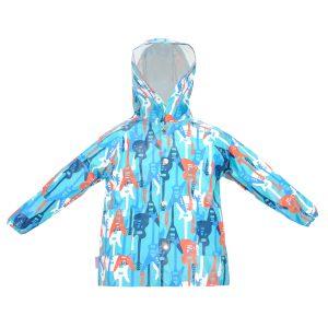 Дождевик 24115 голубая цветной принт