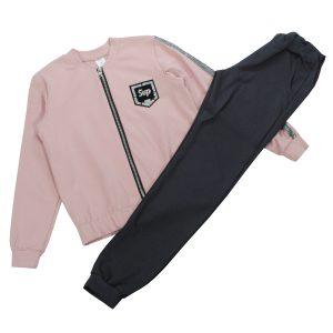 Костюм 555152-555153 рожево-сірий