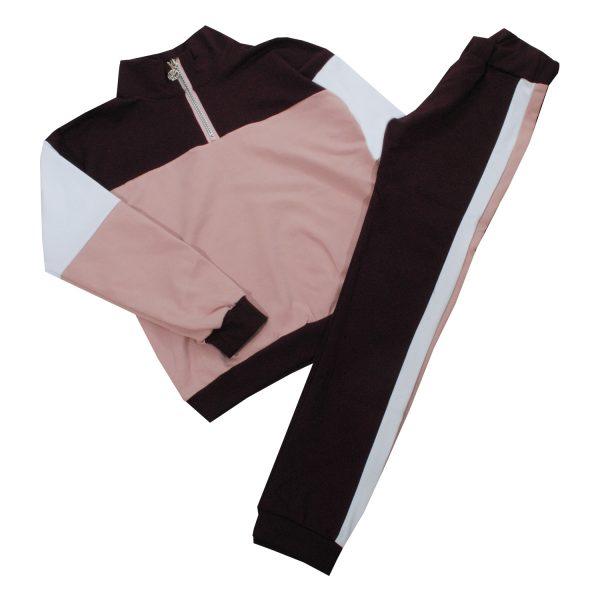 Костюм 555177-555178 фиолетово-розовый