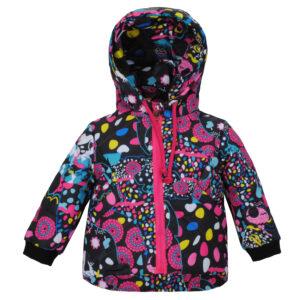 Куртка 22509 кольоровий принт