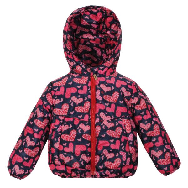 Куртка 22565 синьо-рожева